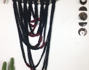Driftwood & Yarn Loop Tapestry