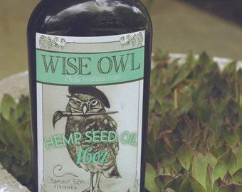Wise Owl Hemp Seed Oil  5 oz, 8 oz, or 16 oz