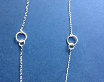Sterling Silver Necklace, Earrings and Bracelet Set