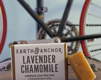 Lavender Chamomile Handmade Goat Milk Soap    Gifts under 10    Exfoliating Soap