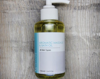Pure Natural Aromatic Massage and Bath Oil 100ml, Sunflower,Avocado,Almond oil,infused with Rosemary,Lemongrass & Eucalyptus essential oils