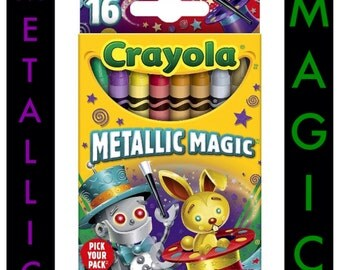 Metallic Magic Crayola Crayons, 2014 Limited Edition.  One Pack of 16 Crayons.