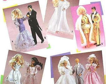 "Simplicity Pattern #7362 BARBIE Clothes for 11.5"" Barbie & 12"" Ken Dolls"