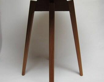Teak Wood Round Side Table