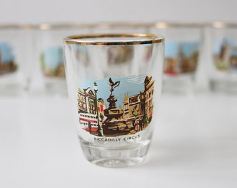 Vintage  London  shot glass set