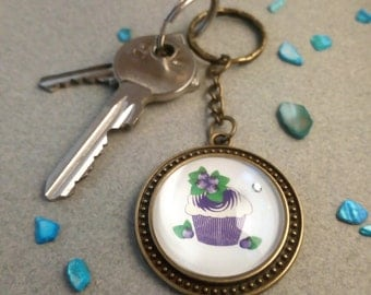 "Key fob ""Blueberry muffin"""