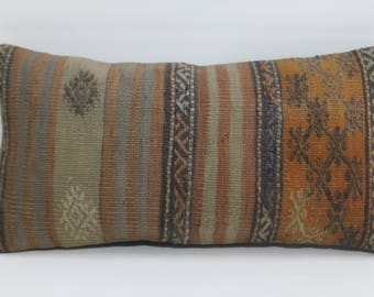 decorative kilim pillow ethnic pillow handwoven kilim pillow 12x24 turkish kilim pillow throw pillow home decor cushion cover  692