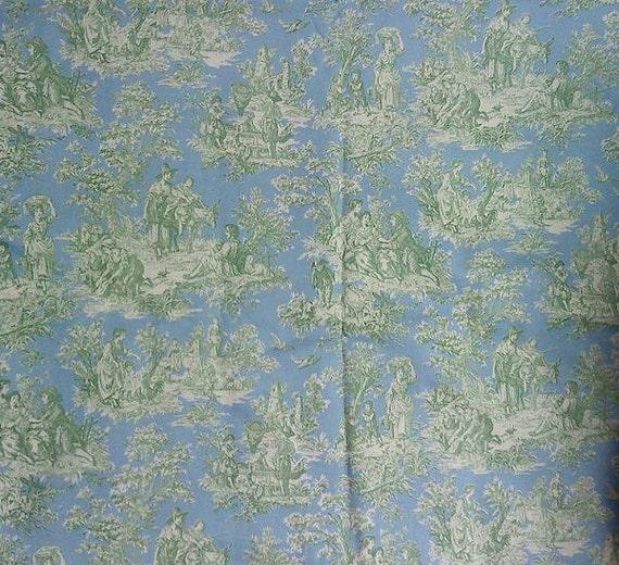 Waverly Rustic Life GreenBlue Toile Fabric Printed Home Decor