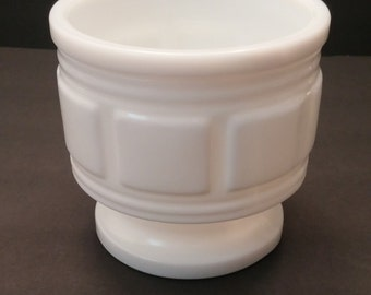 Randall Milk Glass Footed Planter