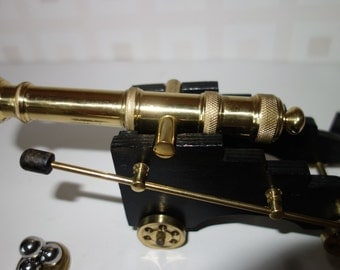 Maltese Canon solid brass canon on wooden carriage