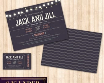 9n under on etsy handmade hunt for Jack and jill ticket templates