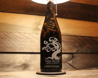 Upcycled Tree House Growler Bottle Lamp