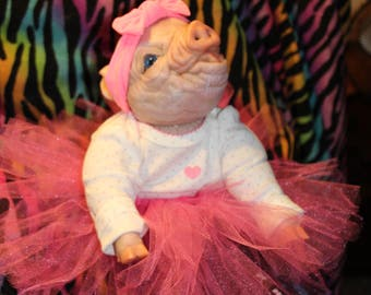 Soft viny preemie l pig doll  ****sellout risk