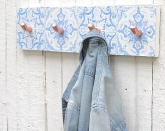 Copper Hooks - Coat Hooks - Towel Hooks - 4 Coat Hooks - Wall hooks - Wall Mounted Hooks - Contemporary Hooks - Kitchen Hooks - Coat Hanger