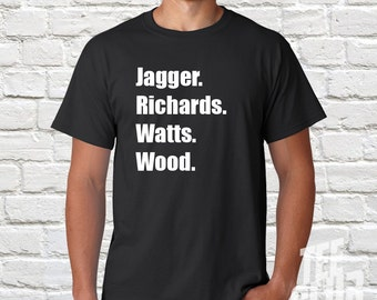 Rolling Stones Tshirt, Band Tshirt, Mick Jagger, Keith Richards, rock Tshirt, mens gift, music tee,