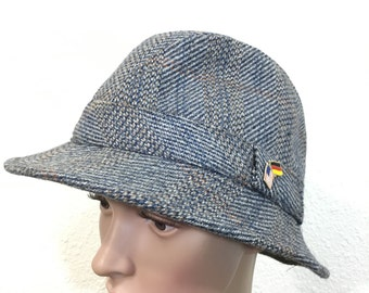 1970's euro vintagb wool hat fedoras made in britain size 7
