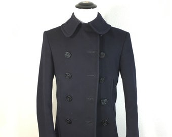 1940's vintage wool pea coat us navy military jacket