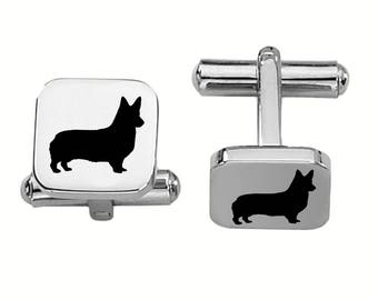 Corgi Cufflinks | Dog Cufflinks | Custom Cufflinks | Stainless Steel