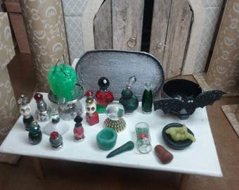 OOAK Mini Apothecary Set with Candles