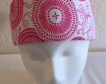 Freezeit! Migraine Headwraps Pink & White Circles