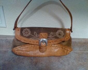 Vintage 'Cowboy Style' Suede/Leather Handbag