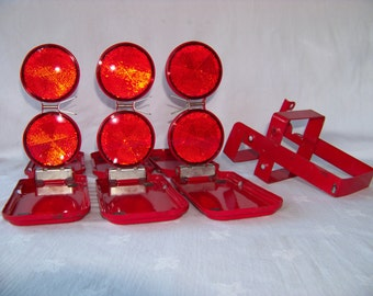 Micro-Flare, Model 18, Micro-Flex Co., Set of 3 Roadside Safety Reflectors