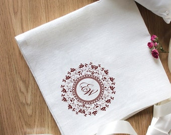 Gorgeous Embroidery for Special Occasion Napkins Set of 2 Napkins Eco Friendly Napkins Natural Wedding Embroidery