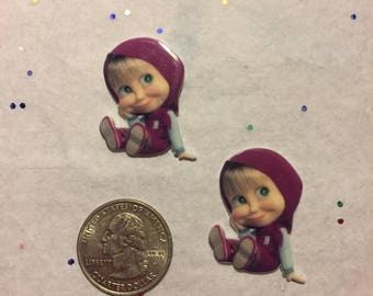 Masha and the Bear Resin, Masha and the Bear Cabochon