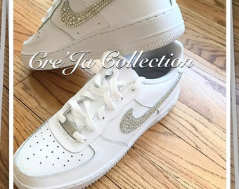 Bling Air Force Ones, Bling Nike, Custom Nike Shoes, Custom Air Force 1 Shoes, Bling Nike, Air Force One