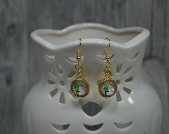 "Earrings ""Bird Pepe"""