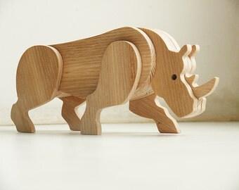 Wooden Rhinoceros Rhino figurine Rhino Wood toys Rhino toys Collectible figurines Rhinoceros decor Rhinoceros statue Rhinoceros gift Rhino