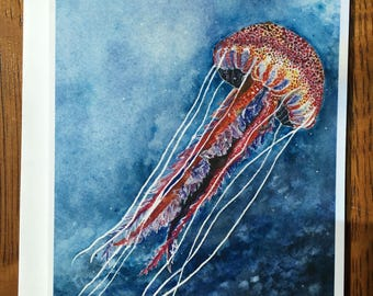 Jellyfish Afloat Card