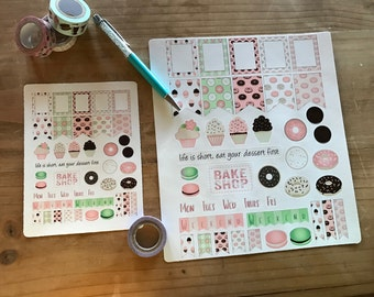 Donut planner stickers. Available in pocket / personal  size or large A5 / happy planner / erin condren size. Planner accessories