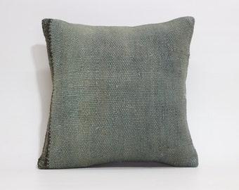16x16 Vintage Turkish Handwoven Kilim Pilow Decorative Kilim Pillow Throw Pillow 16x16 Kilim Pillow Cushion Cover SP4040 1575