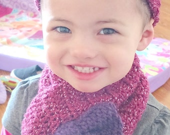 Bow cowl and ear warmers