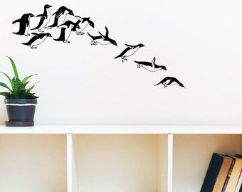 Penguin Launch Wall Decal