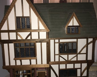 Stunning quality bespoke Tudor minature house 1/12th scale