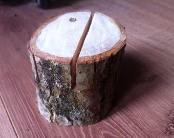 Rustic Real Wood Menu Table Number Card Holders Best Quality Oak Wood 8x8cm :)