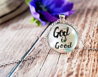 Easter necklace etsy god is good necklace god necklace religious gift first communion gift god negle Gallery