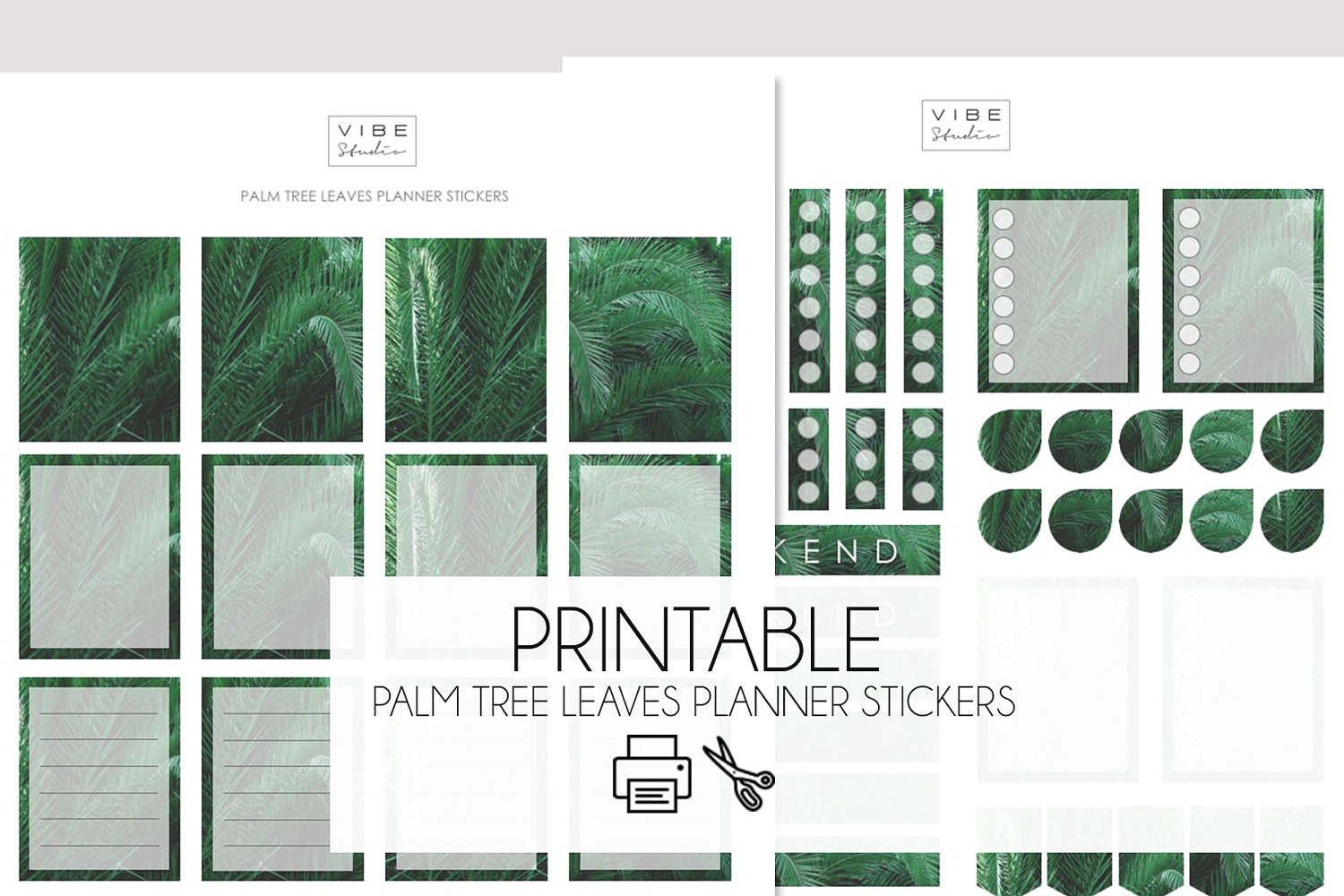 palm tree planner stickers printable planner stickers palm