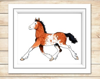 Horse Portrait Custom Horse Painting Digital Print Watercolor Horse Illustration Horse lover Gift Original Equine Portrait Personalized art