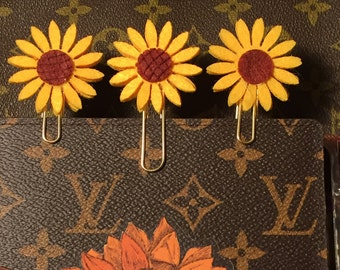 Double Stacked Sun Flower Large Paperclip- adorable!