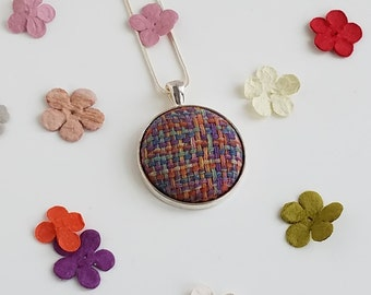 Wrap Scrap Jewelry - Necklace - Ethos  - Mountain Flowers - Wrap Scrap - Handwoven - Multicolored