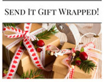 Gift Wrapping Add On Service, Gifts, Christmas Presents, Gift Wrapped Order, Add on a gift wrap,