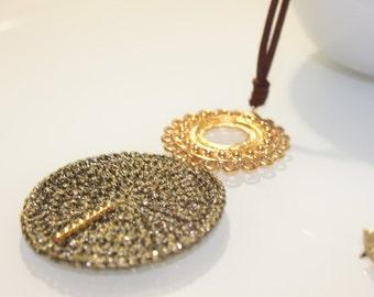 Boho long necklace with pendant, Ethinic long statement necklace, Boho long necklace with filigree pendant, boho long statement necklace