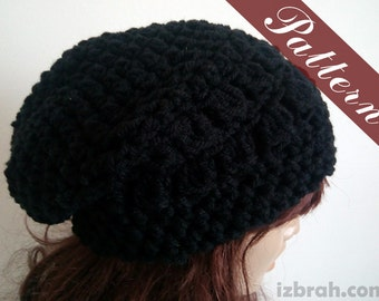Slouchie beanie pattern, Pattern slouchy hat, Crochet pattern, Slouch beanie Slouchy beanie Slouchy beanie women Crochet hat Crochet beanie