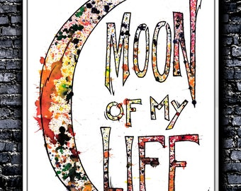 Splatters Moon Of My Life - A4 Signed Art Print (Inspired by Game of Thrones)