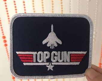 Vintage Top Gun Rectangle Patch