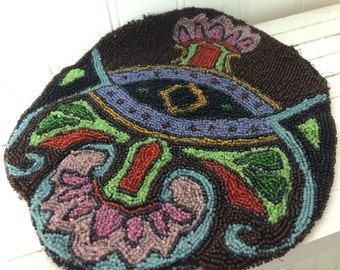 Vintage Intricate Beaded Art Deco Purse Not Finished