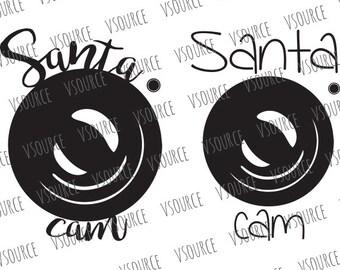 Svg - Santa Cam SVG - Santa Cam File - Santa Cam SVG File - Santa Cam Cut File - Santa Cam Ornament SVG - Santa Cam Decal File